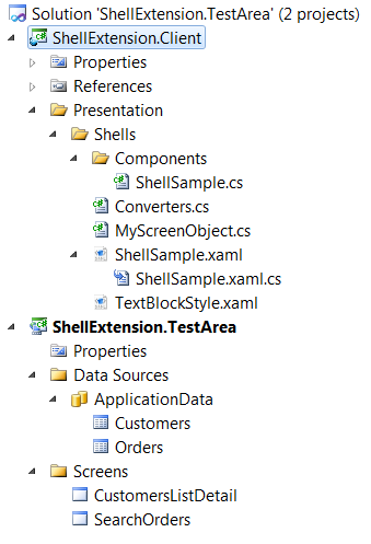 After adding shell extension client project