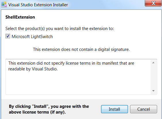 Install the extension